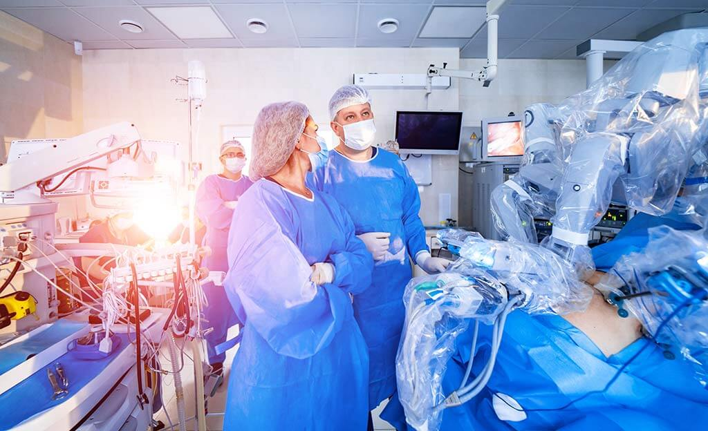 Treatment of prostate cancer with the da Vinci robot
