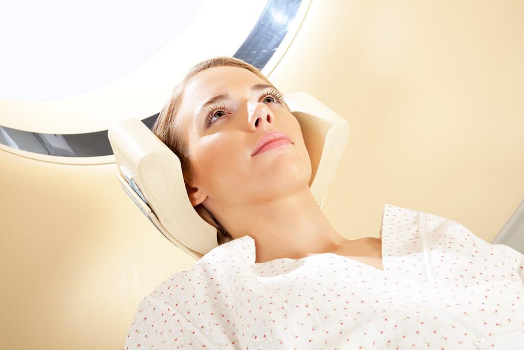 Gamma Knife, treatment of a brain tumor
