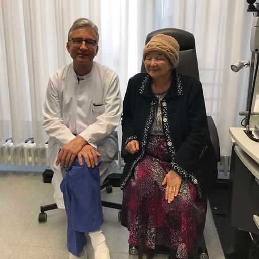 أستاذ في العلوم الطبية فرانكه ج. هولتز، مشفى بون الجامعي، سبتمبر 2017