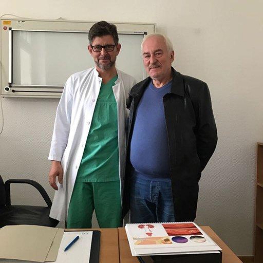 Профессор, Доктор медицины Петер Альберс, Университетская клиника Дюссельдорф, Сентябрь 2017